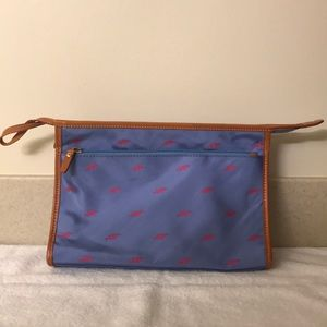 J.McLaughlin Large Clutch Fabric and Leather